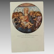 Botticelli Maria With Baby Jesus Singing Angels Post Card