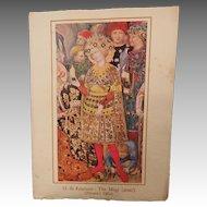 G .da Fabriano Detail The Magi Medici Society Christmas Card
