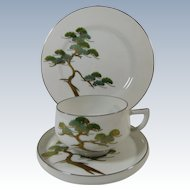 Koshida Japan Yew Tree 3 Piece Dessert Set Lithophane