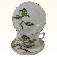 Koshida Japan Yew Tree 3 Piece Dessert Set Lithophane