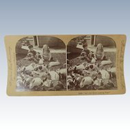 Stereoview Stereo Card Antique Photograph For Viewer