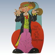 Comical Valentine Unused Early 20th Century