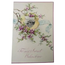Circa 1900 Unused Romantic Valentine Card