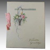 Friendship Valentine Card Circa 1920 Unused