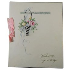 Friendship Valentine Card Circa 1920 Unused