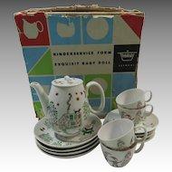 Child's Tea Set 1960s Thomas Porcelain German Modernist Folk Art