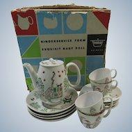 German Modernist Child's Tea Set 1960s Folk Art