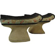 Qing Dynasty Chinese Manchu Platform Shoes