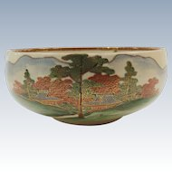 Satsuma Round Bowl Landscape Decorated
