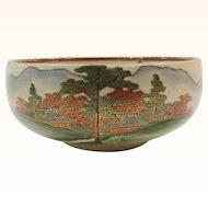 Satsuma Round Bowl Landscape Decorated