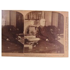 Stereoview President McKinley White House 1898