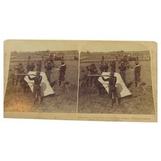 Stereoview American Firing Line Malolos Philippines 1898