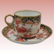 Royal Crown Derby England Demitasse Cup and Saucer