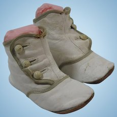 Petite Baby Shoes or Doll Shoes High Button