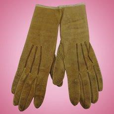 French Doeskin Kidskin Childs Gloves Ronsard
