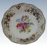 Dresden Flowers Reticulated Pierced Sauce Bowl