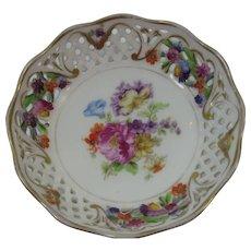 Dresden Flowers Reticulated Pierced Sauce Bowl