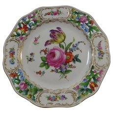 Dresden Flowers Reticulated Pierced 7 Inch Plate