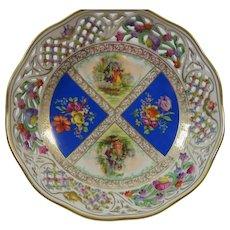 Dresden Flowers Reticulated Pierced Schumann Bowl