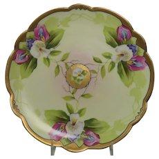 Limoges Handpainted Nouveau Era Cabinet Plate