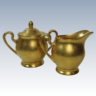Pickard China Gilded Cream and Sugar 532