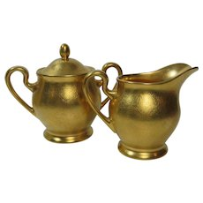Pickard China Gilded Cream and Sugar Set no 532