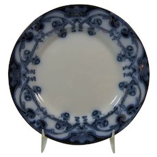 Flow Blue 7 Inch Plate Royal Staffordshire Pattern Iris