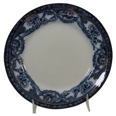 Flow Blue 7 Inch Plate Royal Staffordshire Pattern Renown