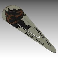 Cracker Jack Prize Toy Scottie Dog Bookmark Tin Lithographed