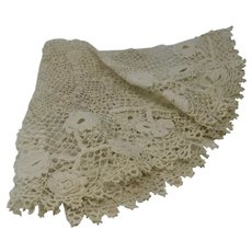 Clones Irish Crochet Lace Doily Finely Hand Worked
