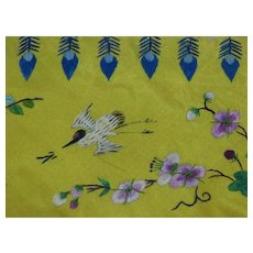 Silk Embroidered Salvaged Fragment Chinese Garment Trim