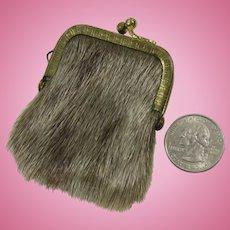 Chatelaine Coin Purse Key Keep or Doll Purse Furry