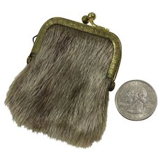 Chatelaine Coin Purse or Key Keep Purse Furry - Red Tag Sale Item