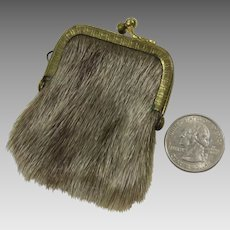 Chatelaine Coin Purse or Key Keep Purse Furry