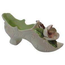 Vee Jackson Pottery Pasadena CA Fancy Floral Shoe