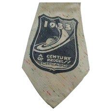 1933 Century Of Progress Exposition Chicago Necktie Cravat