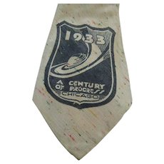 1933 Century Of Progress Exposition Chicago Necktie Cravat