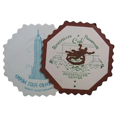 Empire State Building and Rockefeller Cafe Vintage Paper Coaster