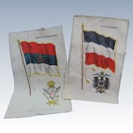 Nebo Cigarettes Two Collectible Silks With Country Crests