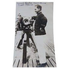 Captain Hawkins On Board His Ship Photographic Image 1917