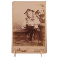 Cabinet Photo of Alexander Henry With A Giant Bowtie Brooklyn NY