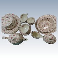 27 Pieces Copeland Spode Rosebud Chintz Set With Teapot