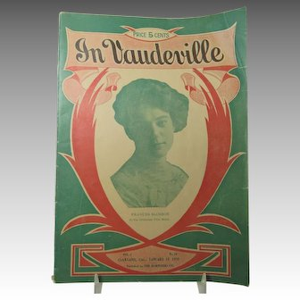 In Vaudeville January 1910 Issue Frances Slosson Orpheum Oakland CA