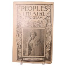 Theater Program May Hosmer People's Theatre Chicago 1902