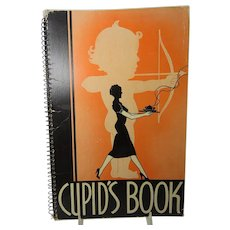 Cupid's Book 1939 Un-used Brides Book With Etiquette and Recipes