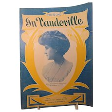 'In Vaudeville' January 1910 Mrs Frederic Voelker Orpheum Theater Oakland CA