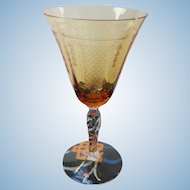 Fostoria Beverly Amber Sherry Claret Wine Glass Stem