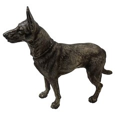 Hubley Doorstop Huge German Shepherd Dog No380 Cast Iron