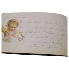 1879 Autograph Book From Happy Camp CA and Jacksonville OR