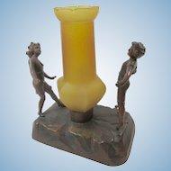 1920s Boudoir or Nursery Electric  Lamp